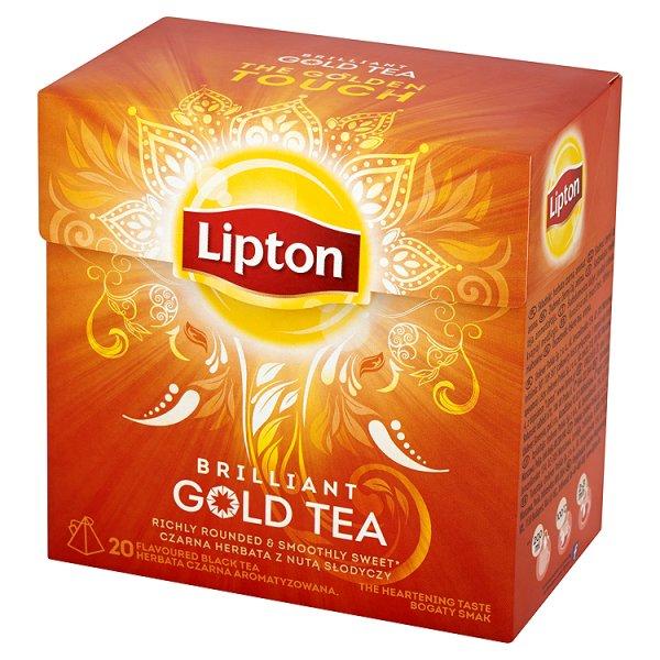 Herbata Lipton Brilliant Gold Tea czarna aromatyzowana 38g(20 torebek)