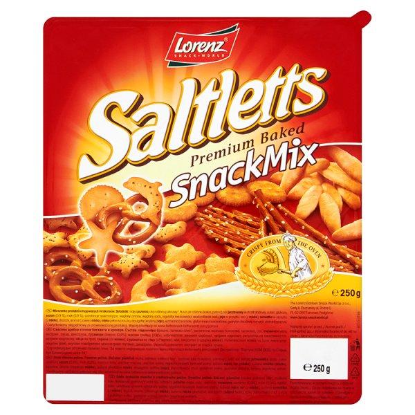 Saltletts Snack Mix Mieszanka produktów ługowanych i krakersów 250 g