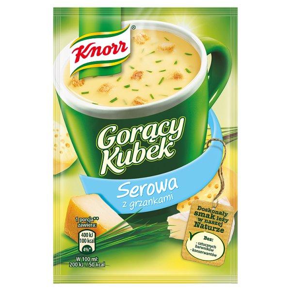 Gk knorr zupa serowa z grzankami