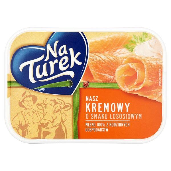 NaTurek Nasz Kremowy o smaku łososiowym Serek twarogowy 125 g