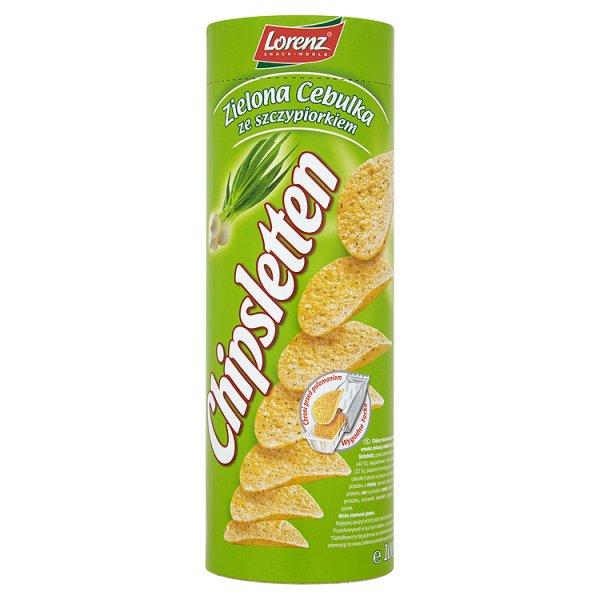 Chipsy Chipsletten zielona cebulka ze szczypiorkiem
