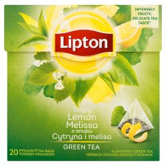 Herbata Lipton zielona cytryna melisa 20*1,6g