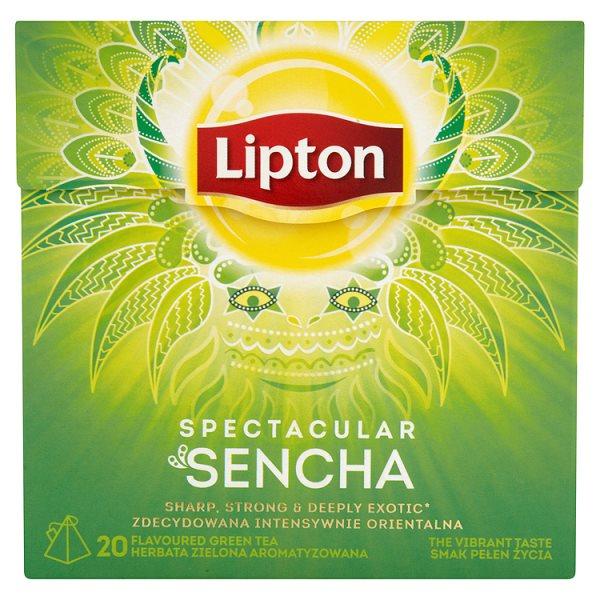 Lipton Spectacular Sencha Herbata zielona aromatyzowana 36 g (20 torebek)