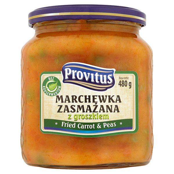Provitus Marchewka zasmażana z groszkiem 480 g