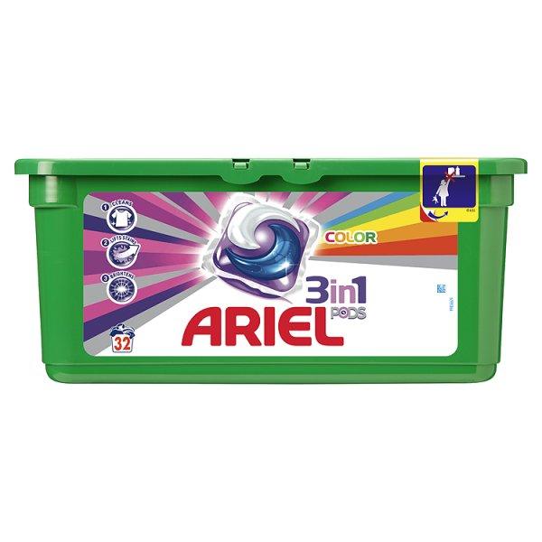 Ariel 3in1 Color Kapsułki do prania 32 sztuki
