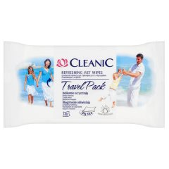 Cleanic Travel Chusteczki odświeżające 40 sztuk