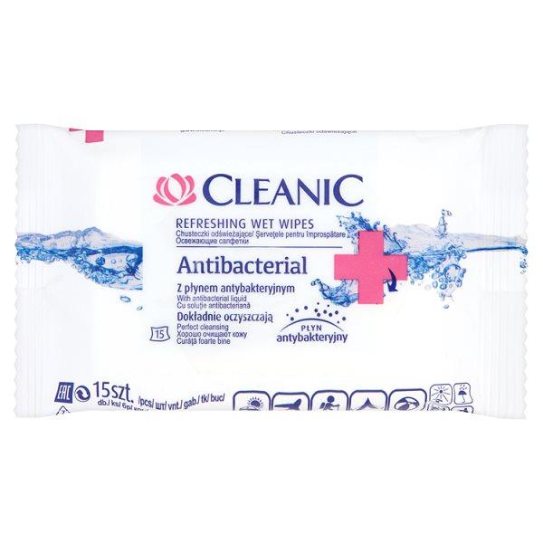 Chusteczki Cleanic odświeżające Antiseptic