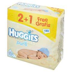 Chusteczki Huggies Wet Wipes Pure 2+1