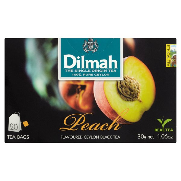 Dilmah Cejlońska czarna herbata z aromatem brzoskwini 30 g (20 torebek)