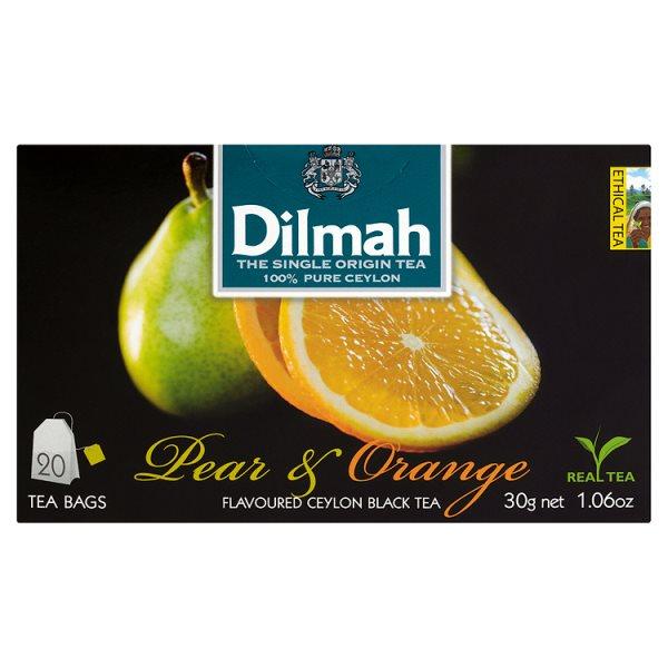 Dilmah Cejlońska czarna herbata z aromatem gruszki i pomarańczy 30 g (20 torebek)