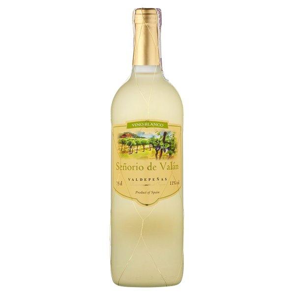 Señorio de Valán Valdepeñas Wino białe słodkie hiszpańskie 750 ml