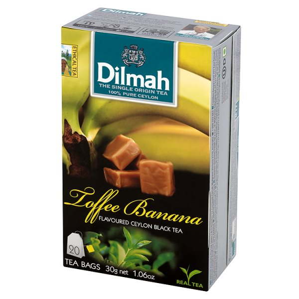 Dilmah Cejlońska czarna herbata z aromatem karmelu i banana 30 g (20 torebek)