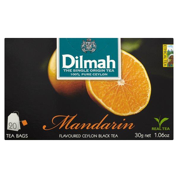 Dilmah Cejlońska czarna herbata z aromatem mandarynki 30 g (20 torebek)