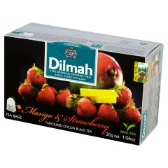 Herbata cejlońska czarna z aromatem mango i truskawki 20*1,5g