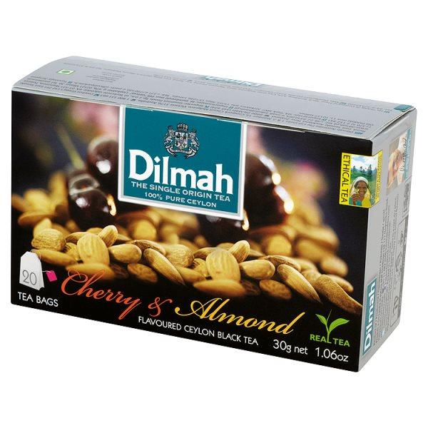 Herbata Dilmah cejlońska czarna z aromatem wiśni i migdałów 20*1,5g