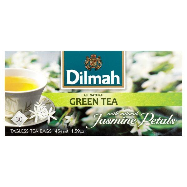 Dilmah Herbata zielona z kwiatami jaśminu 45 g (30 torebek)
