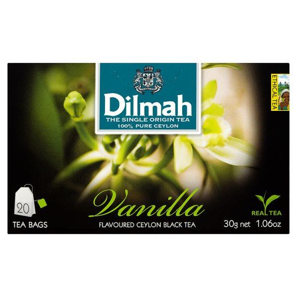 Dilmah Cejlońska czarna herbata z aromatem wanilii 30 g (20 torebek)