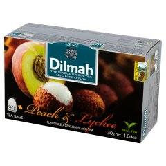 Herbata cejlońska czarna z aromatem brzoskwini i lychee 20*1,5g