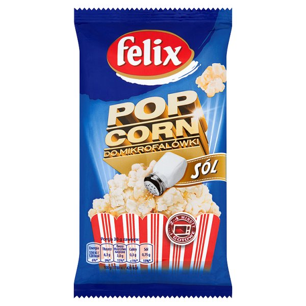 Popcorn Felix solony do mikrofalówki
