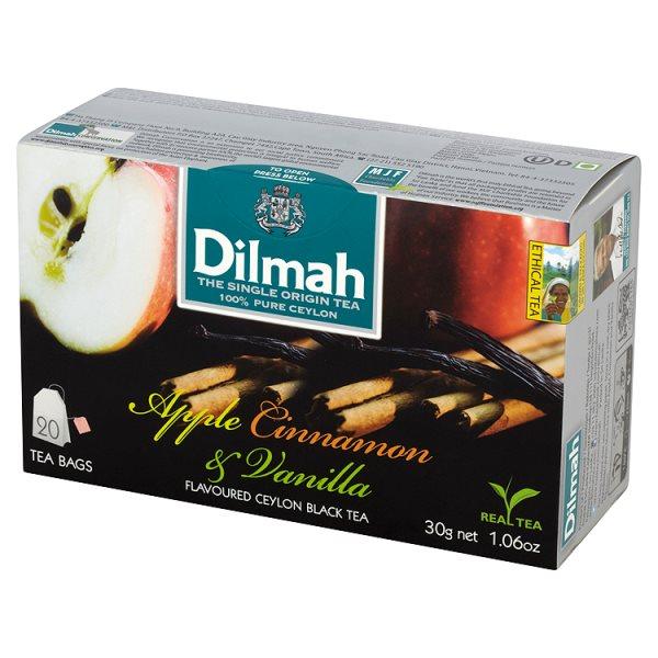 Dilmah Cejlońska czarna herbata z aromatem jabłka cynamonu i wanilii 30 g (20 torebek)