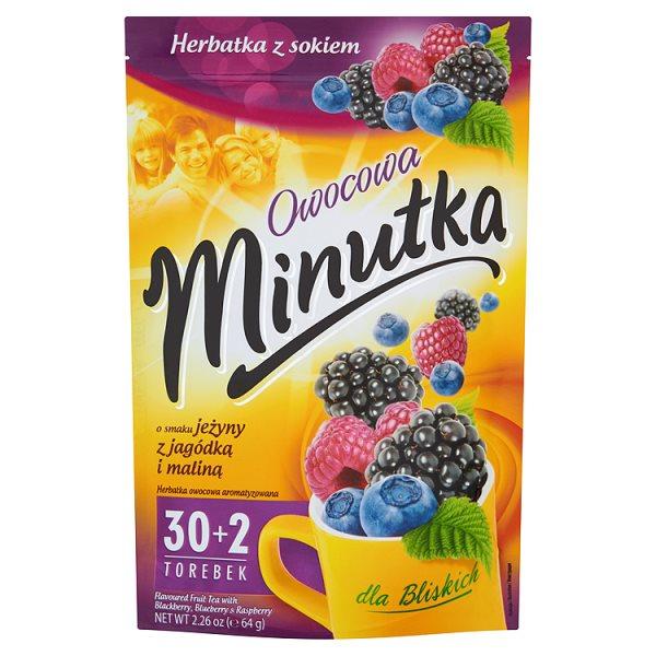 Herbata minutka owocowa z jeżynką,malinką i jagódkami 28*2g