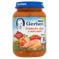 Gerber Obiadek z rybką Smakowita rybka z warzywami po 8 miesiącu 190 g