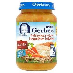 Obiadek Gerber potrawka z ryżem i łagodnym indykiem
