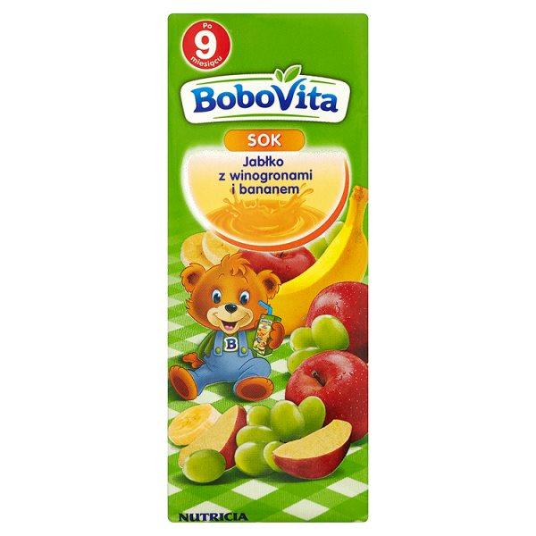 BoboVita Sok jabłko z winogronami i bananem po 9 miesiącu 200 ml