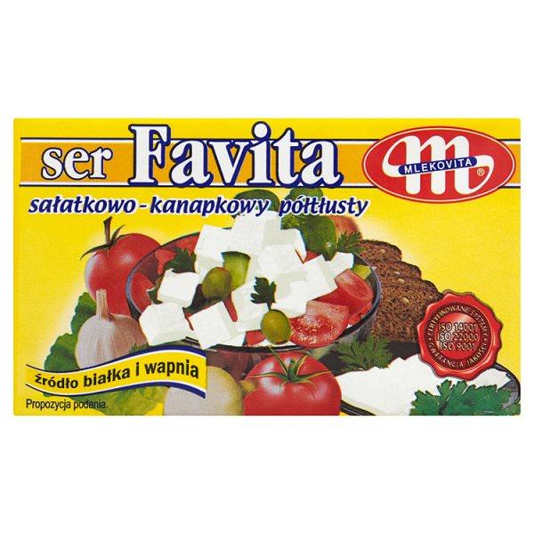 Mlekovita Favita Ser sałatkowo-kanapkowy półtłusty 270 g