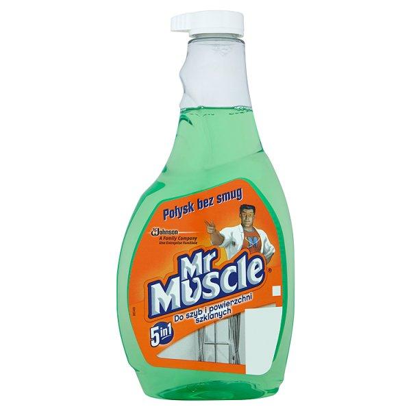 Mr Muscle 5in1 Płyn do szyb i innych powierzchni zielony Zapas 500 ml