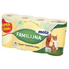 Papier toaletowy Mola familijna zółty /8rolek