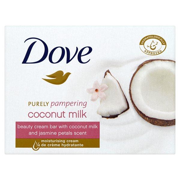 Dove Purely Pampering Coconut Milk Kremowa kostka myjąca 100 g
