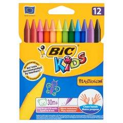 Kredki Bic Kids Plastidecor świecowe 12 kolorów