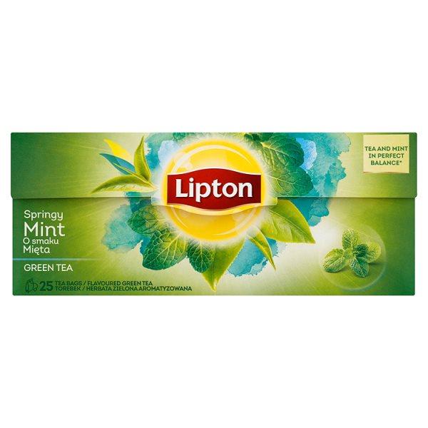 Lipton o smaku Mięta Herbata zielona aromatyzowana 32,5 g (25 torebek)