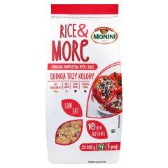 Monini Rice & More Quinoa Trzy Kolory Unikalna kompozycja ryżu i kasz 350 g