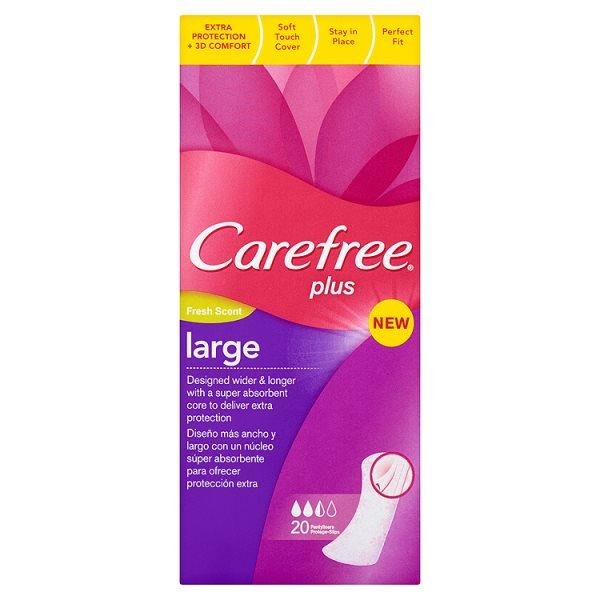 Carefree Plus Large Fresh Scent Wkładki higieniczne 20 sztuk