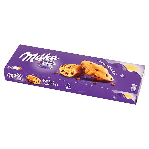 Ciastka Milka Choco Twist biszkoptowe z kawałkami czekolady mlecznej