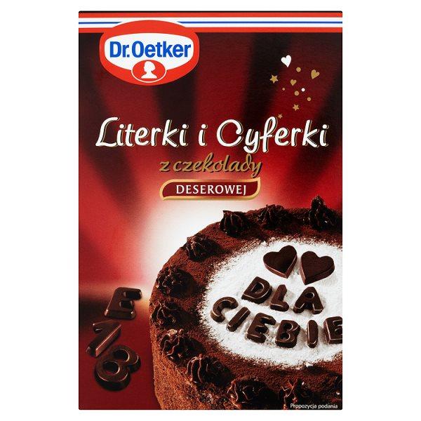 Ozdoby Dr.Oetker literki i cyferki z czekolady