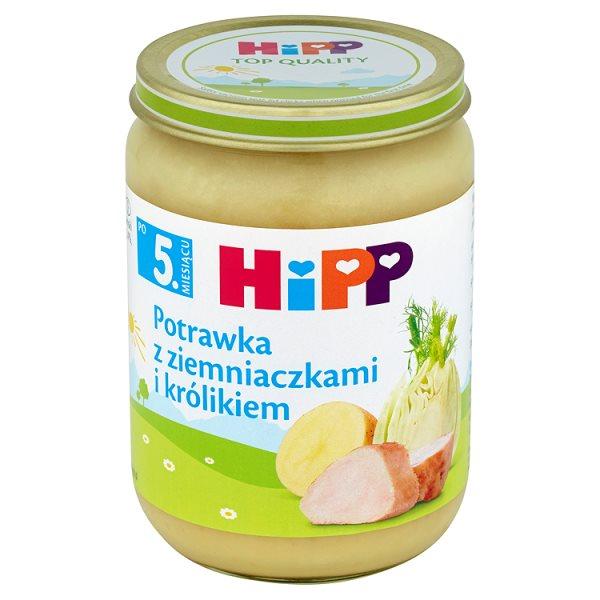 Danie Hipp     potrawka z ziemniakami i królikiem