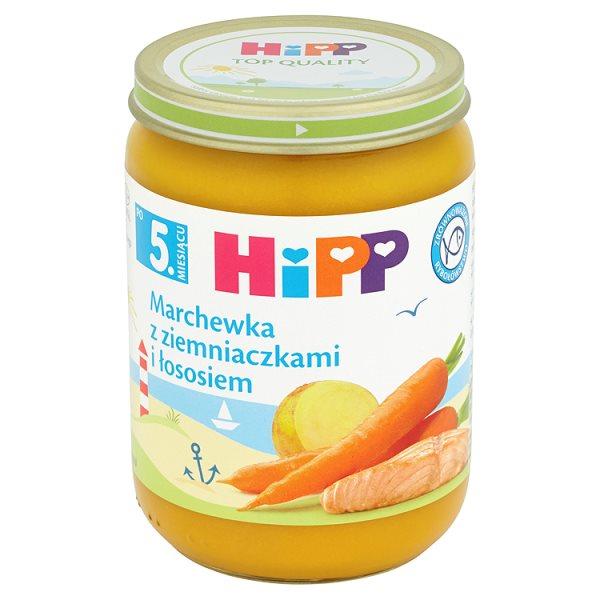 Danie HiPP marchewka z ziemniakami i łososiem