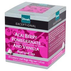 Herbata exceptional czarna z aromatem jagód,wanilii,granatu20*2g