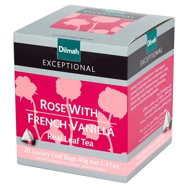 Herbata Dilmah Exceptional róża i wanilia