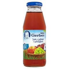 Gerber 100% Sok z jabłek i winogron po 4 miesiącu 300 ml
