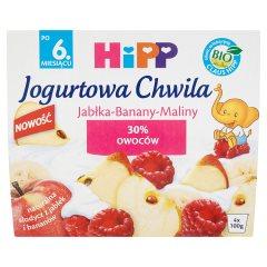 Jogurtowa chwila Hipp jabłka-banant-maliny 4*100g
