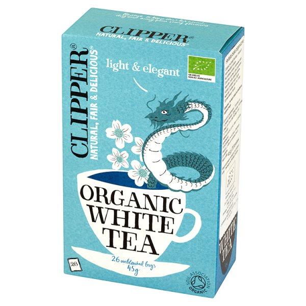 Clipper Herbata biała organiczna 45 g (26 torebek)