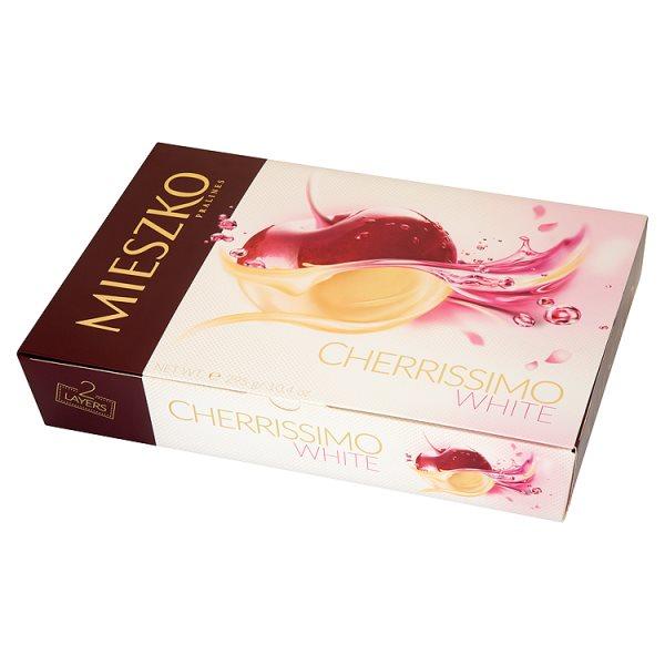 Bombonierka Mieszko Wiśnie Cherrissimo w białej czekoladzie