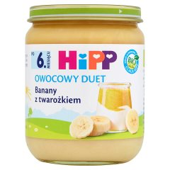 Deser Hipp banany z twarożkiem