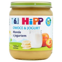 Deser Hipp morele z jogurtem Bio