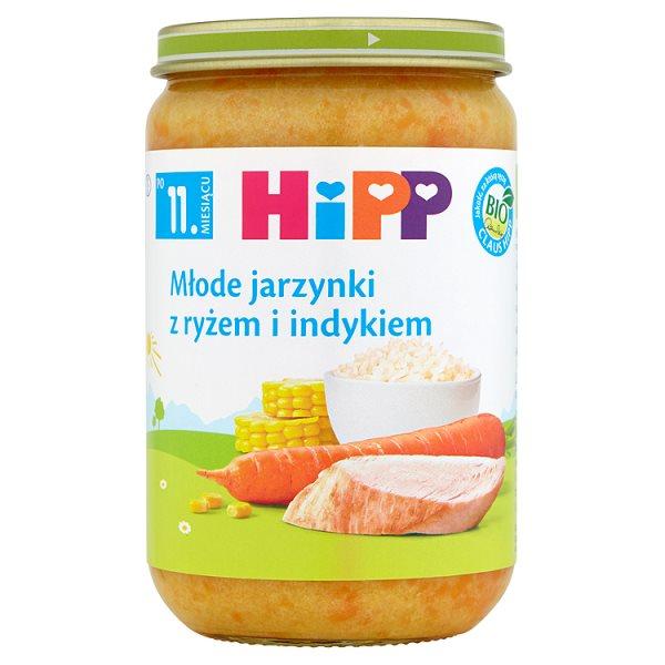 HiPP BIO Młode jarzynki z ryżem i indykiem po 11. miesiącu 220 g
