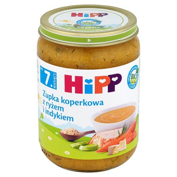 HiPP BIO Zupka koperkowa z ryżem i indykiem po 7. miesiącu 190 g